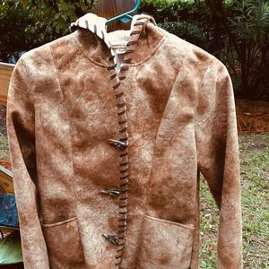 Prana hoodie coat with buttons